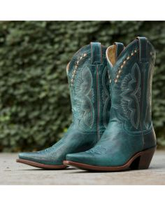 Justin Women's Turquoise Damiana Boot - L4302....LOVE