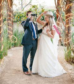 Alyssa and Roy's safari-themed wedding reception on Green Wedding Shoes blog!