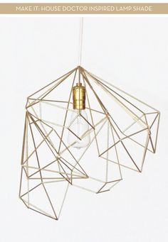 Make this simple Nordic House Doctor inspired lamp by using an Umbra wall decor set and some electrical wire. With a few simple tweaks create your own custom light fitting. Details and instructions at the link below. House Doctor Inspired Lamp Shade via Free Series