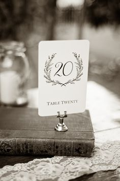 Sweet Vintage Wedding Table Number Signs 125 by SixpencePress, $29.00