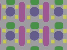 """JazzyTraffic"" by edtoyz abstract, alternating shapes, color, green, highlight of Digon mustard yellow, jazzy, purple, royal blue, shapes, simple"