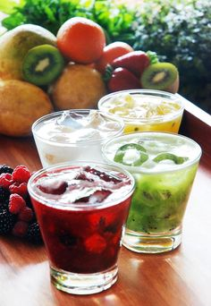 vodka (cachaça) + fruits (lemon) + sugar = caipirinha