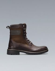 LACE-UP BOOTS - Shoes - Man - ZARA United States