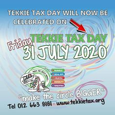 IMPORTANT! IMPORTANT! Tekkie Tax Day 2020 has been moved to Friday, 31 July 2020. We are still dedicated to protecting vulnerable people and animals. Support Tekkie Tax Day 2020  You can also support in the following way - SMS the keyword TTCARES to 42646 to donate R30.  Visit our website for more information on how you can help make a difference www.tekkietax.org  #tekkietax #makethecirclebigger #takehands #lovingtekkies #VirtualHug #1000000Hugs
