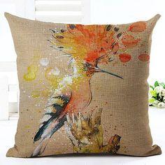 Birds Dark Brown Pillowcase