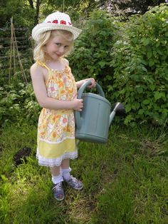 Upcycled Vintage  Pillowcase Dress Age 5-6 Years by wonderbugs, $18.00