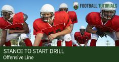 """Without a reliable offensive line, even teams with an abundance of """"skilled"""" players will struggle to move the ball upfield. In this section, you'll discover our top 25 offensive line drills covering footwork, run blocking, and pass protection skills. Youth Football Drills, Football Team, Football Helmets, Lineman, Kids Sports, American Football, Coaching, Foundation, Success"""