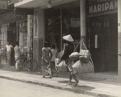 Straatbeeld, Bandung, Java, Indonesië (1933)