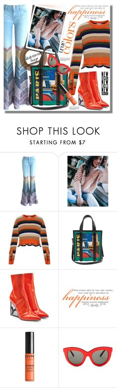 """Arm Candy: Statement Bags"" by pesanjsp ❤ liked on Polyvore featuring Chicwish, Moncler, Balenciaga, Puma, WALL, NYX, Victoria Beckham and statementbags"