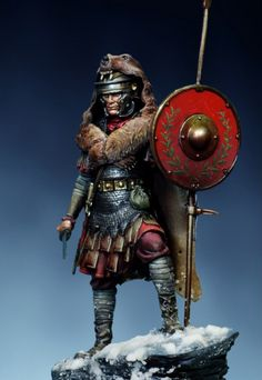 m Fighter Ares Mythologic- Figure Kits Roman Aquilifer Ancient Rome, Ancient History, Guerrero Dragon, Roman Armor, Roman Shield, Rome Antique, Roman Warriors, Roman Soldiers, Toy Soldiers