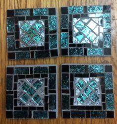 Mosaic coasters using Van Gogh tiles  ~ by @Joyce Novak McMahon  ~ love these!