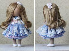 Hecha a mano muñeca Tilda muñecas trapo arte por AnnKirillartPlace