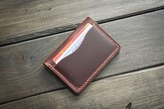 Tan 5 Card Leather Wallet