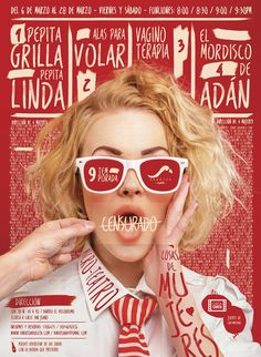 Bright red Mag cover with beautiful hand lettering.