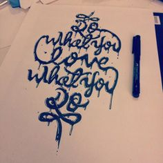 Hand Drawn Typography by Josh Krecioch, via Behance Typography Quotes, Typography Letters, Graphic Design Typography, Lettering Design, Hand Lettering, Inspiration Typographie, Typography Inspiration, Logo Design Inspiration, Hand Drawn Type