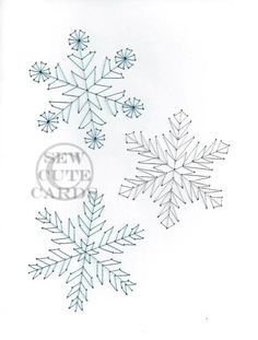 Snowflakes by Sew Cute Cards www.facebook.com/sewcutecards http://sewcute.storenvy.com: