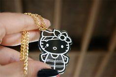 Custom Gangster Hello Kitty Necklace laser cut by emikoshop, $10.00