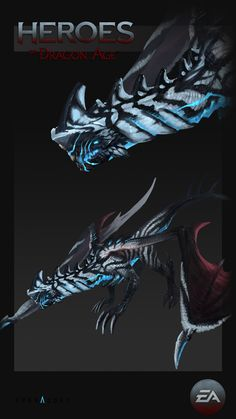 Concepts done for Heroes of Dragon Age mobile game. Alien Creatures, Magical Creatures, Fantasy Creatures, Creature Concept Art, Creature Design, Heroes Of Dragon Age, Dragon Anatomy, Dragon Zodiac, Dragon Sketch