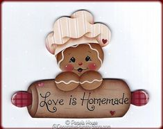 The Decorative Painting Store: Love is Homemade Ginger Pattern, All Pattern Packets
