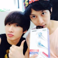 SUPER JUNIOR | Kim Heechul with Lee Hyukjae/Eunhyuk <3  - There awkwardness in the previous Intimate note show totally fade away. ^_^