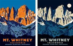 Mt. Whitney, the highest point in the lower 48 states.
