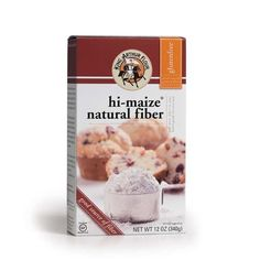 """Derived from corn, this gluten-free dietary fiber is an easy shortcut to a healthier diet. It's certified gluten free, and one serving contains 20-25% of your suggested daily fiber requirement.    Why it's good for you: Hi-maize® fiber is a """"resistant starch,"""" which means that instead of being digested, it passes to the large intestine and acts like dietary fiber, helping to improve digestive health.   Our version combines nutrition benefits – including prebiotic properties – with the tex..."""
