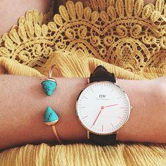 Turquoise Bangle Cuff Bracelet #fashion #style #watches #blue #cuff #bracelet - 14,90  @happinessboutique.com