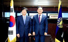 정형진 안동대학교 총장 중원대 예방