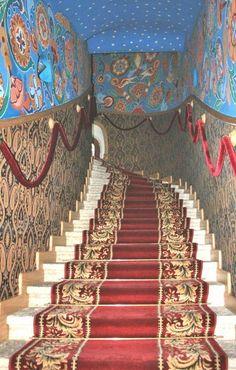 Cathédrale Feodorovsky - Escaliers du Tsar vers l'Eglise Supérieure - Pouchkine - Elle a été construite entre 1909 et 1912 à la demande de l' empereur Nicolas II, par l'Architecte Vladimir Pokrovsky.