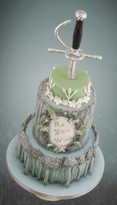 Cool cake....wedding no? And do you know what movie this is referencing? As you…