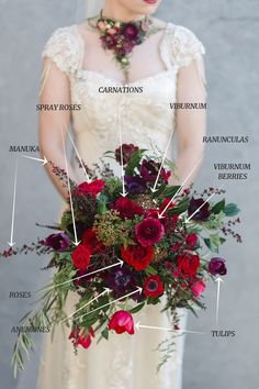 Wedding Bouquet Recipe ~ Opulent Hand-Tied Autumn Bouquet: