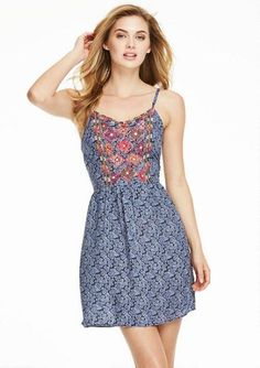 Samantha Embroidered Dress - Dresses - Sale - Alloy Apparel