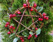 Yule Pentacle Wreath