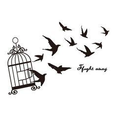 23 Ideas for black bird cage freedom Bird Tattoo Ribs, Red Bird Tattoos, Cage Tattoos, Black Bird Tattoo, La Tattoo, Nicolas Vanier, Funny Bird Pictures, Bird Set Free, Freedom Tattoos