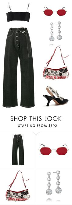 """""""Untitled #1429"""" by lucyshenton ❤ liked on Polyvore featuring Rejina Pyo, Christian Dior and Tacori"""