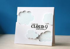 On Cloud 9 by L. Bassen | Clear and Simple Stamps | Cloudy Days