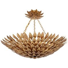"""Crystorama Broche 24"""" Wide Antique Gold Ceiling Light -  not sure if I like it or think it is horrible"""