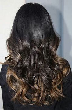 Brunette hair color. Trendy. Ombre.