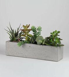 Concrete Windowsill Planter /