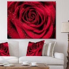 Design Art Designart Red Rose Petals With Rain Droplets Floral Art Canvas Print - 40 Bedroom Red, Bedroom Decor, Bedroom Stuff, Bedroom Ideas, Red Rose Petals, Red Roses, Red Walls, Canvas Art Prints, Design Art