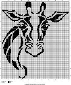giraffe tribal cross stitch pattern Cross Stitch Animals, Cross Stitch Kits, Counted Cross Stitch Patterns, Cross Stitch Charts, Cross Stitch Embroidery, Embroidery Patterns, Crochet Cross, Crochet Chart, Motifs Animal
