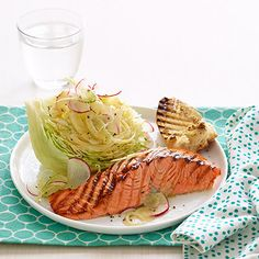 Grilled Salmon with Wedge Salad Recipe - Woman's Day