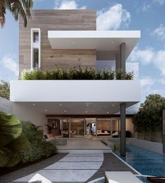 Modern architecture house design with minimalist style and luxury exterior and interior and using the perfect lighting style is inspiration for villas mansions penthouses Modern Architecture House, Modern Buildings, Residential Architecture, Amazing Architecture, Architecture Design, Office Buildings, Chinese Architecture, Futuristic Architecture, House Front Design