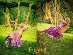 Rapunzel on a swing 2 by Usagi-Tsukino-krv.deviantart.com