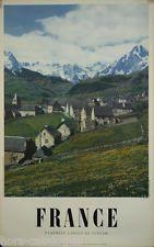 Affiche originale, France, Pyrenees - Cirque de Lescun. Ph. Dieuzaide. Montagne
