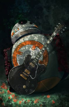 """Post with 785 votes and 10689 views. """"BB King"""", Digital, x Vader Star Wars, Star Wars Art, Darth Vader, Bb King, Star Wars Painting, Film Poster Design, Work Pictures, Nostalgia, Fanart"""