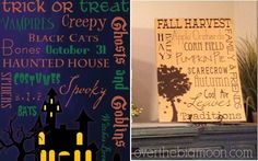 Fall and Halloween Free Printables at Over The Big Moon!