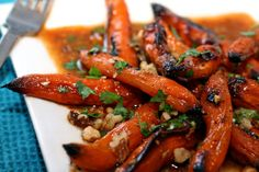 Roasted Moroccan carrots: always have carrots hanging around in the fridge. Corollary recipe: need to find a good Harissa recipe for the spicy kick.