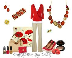 """Poppy"" necklace, bracelet, and earrings. ""In Bloom"" and ""Love Knot"" rings. (Premier Designs)"