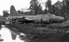On this day in history: This Fortress converted to an armed supply aircraft had a wheel collapse during an emergency landing at Tadji Field New Guinea and slid into the bomb dump 5 May Ww2 Aircraft, Military Aircraft, Photo Avion, Old Planes, Nose Art, Wwii, Fighter Jets, Photos, Pictures